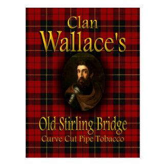 Carte Postale Tabac de tuyau de pont de Stirling de Wallace de