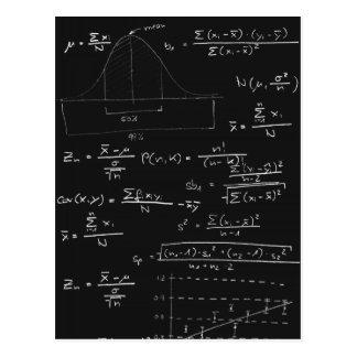 Carte Postale Tableau noir de statistiques