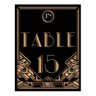 Carte Postale Tableau noir numéro 15 de style de Gatsby d'art