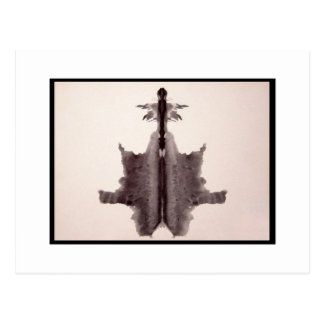 Carte Postale Tache d'encre 6,0 de Rorschach