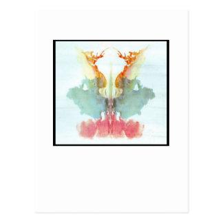 Carte Postale Tache d'encre 9,0 de Rorschach
