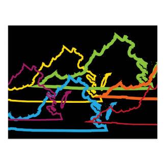 Carte Postale tache floue de fierté de la Virginie