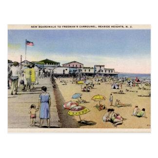 Carte Postale Tailles de bord de la mer, NJ