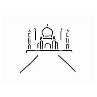 Carte Postale taj mahal l'Inde agra