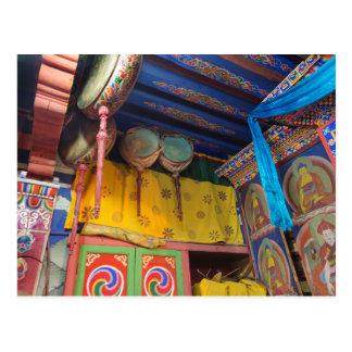 Carte Postale Tambours à l'intérieur d'un temple
