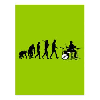 Carte Postale Tambours de Dubstep de batteur et de jazz de