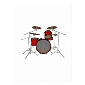 Carte Postale Tambours : Kit de tambour rouge : modèle 3D :