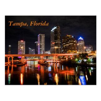 Carte Postale Tampa du centre, la Floride par nuit