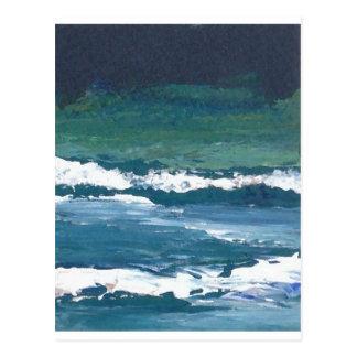 Carte Postale Tango du décor de plage de ressacs de mer