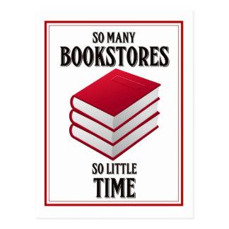 Carte Postale Tant de librairies, tellement peu d'heure