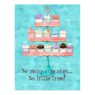 Carte Postale Tant de petits gâteaux, tellement peu d'heure !