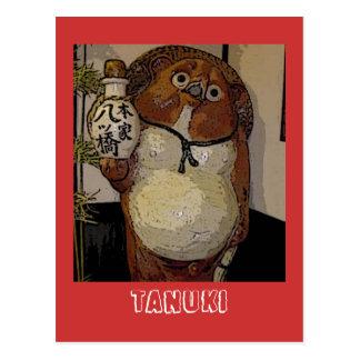 Carte Postale tanuki, Tanuki