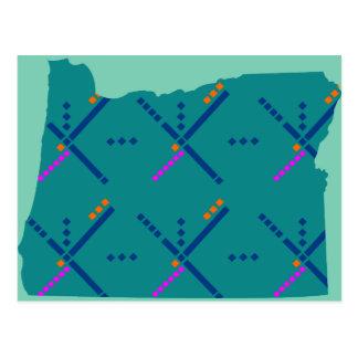 Carte Postale Tapis d'aéroport de Portland Orégon PDX