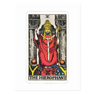 Carte Postale Tarot des Hierophant The Hierophant