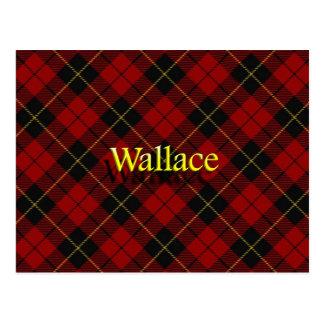 Carte Postale Tartan écossais de Wallace de clan