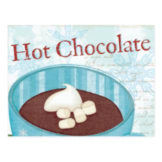 Carte Postale Tasse de Noël avec du chocolat chaud