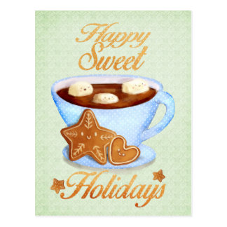 Carte Postale Tasse de Noël de Choco chaud