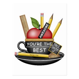 Carte Postale Tasse de thé d'Apple du professeur
