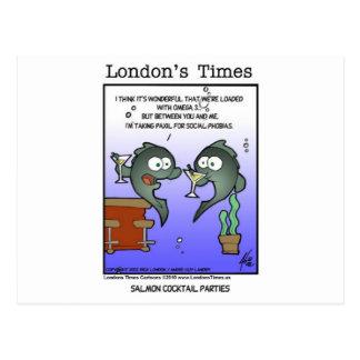 Carte Postale Tasses et cadeaux drôles saumonés déprimés de
