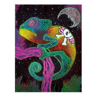 Carte Postale Tatouage de caméléon