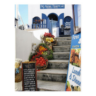 Carte Postale taverne grecque sur Santorini, Grèce