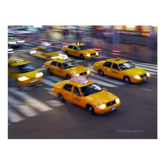 carte postale taxi jaune de new york. Black Bedroom Furniture Sets. Home Design Ideas