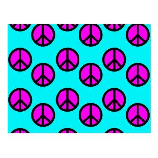 Carte Postale Teal hippie de l'adolescence super et signes de