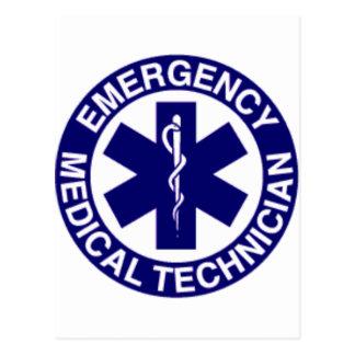 CARTE POSTALE TECHNICIENS MÉDICAUX EMT DE SECOURS