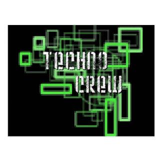 Carte Postale techno crew