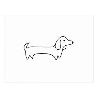 CARTE POSTALE TECKEL, HOT-DOG, CHIEN DE SAUCISSE, MIGNON,