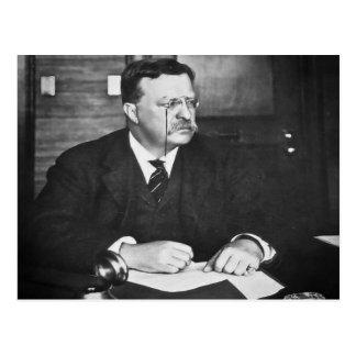 Carte Postale Teddy Roosevelt au travail en 1912