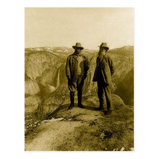 Carte Postale Teddy Roosevelt et John Muir au point de glacier