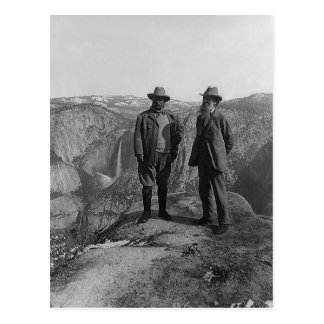 Carte Postale Teddy Roosevelt et John Muir dans Yosemite