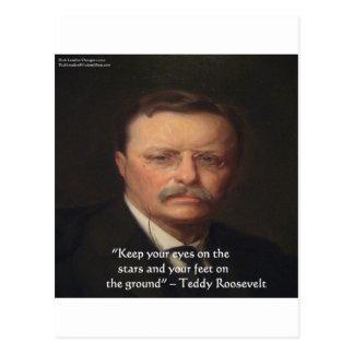 """Carte Postale Teddy Roosevelt """"pieds sur"""" le cadeau moulu de"""