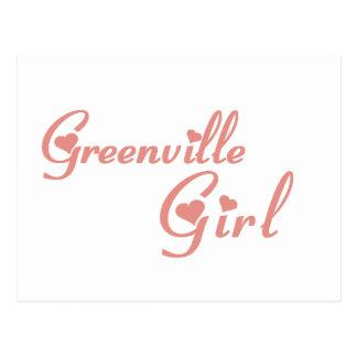 Carte Postale Tee - shirts de fille de Greenville