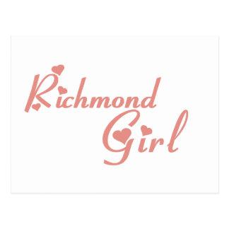 Carte Postale Tee - shirts de fille de Richmond