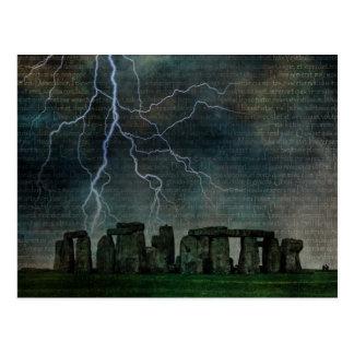 Carte Postale Tempête de Stonehenge