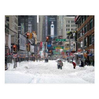 Carte Postale Tempête New York City 12/26/10 de neige d'hiver