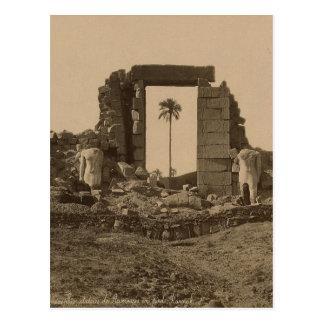Carte Postale Temple d'Amenophis, Egypte circa 1867