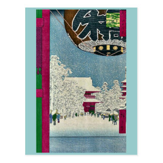 Carte Postale Temple de Kinryuzan, Asakusa par Ando, Hiroshige