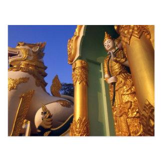 Carte Postale Temple de la Birmanie (Myanmar), Rangoon (Yangon)