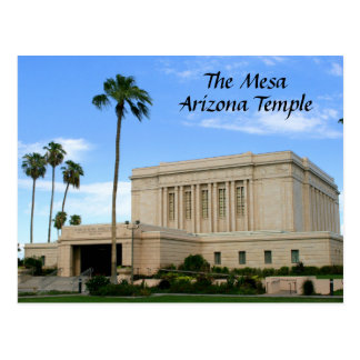 Carte postale - temple de MESA Arizona
