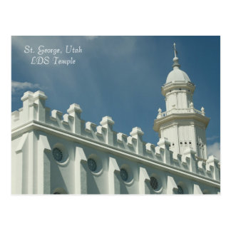 Carte Postale Temple de St George, Utah LDS