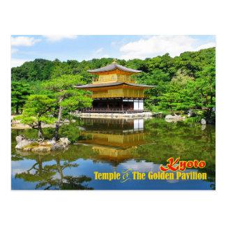 Carte Postale Temple du pavillon d'or, Kyoto, Japon