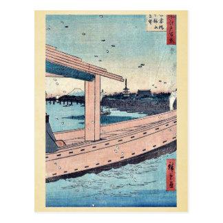 Carte Postale Temple et pont de Kinryuzan par Ando, Hiroshige