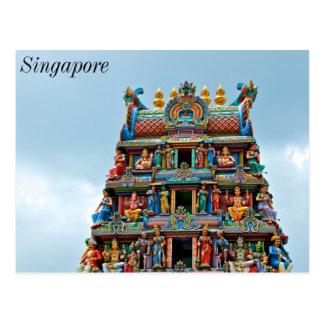 Carte Postale Temple hindou la peu d'Inde Singapour