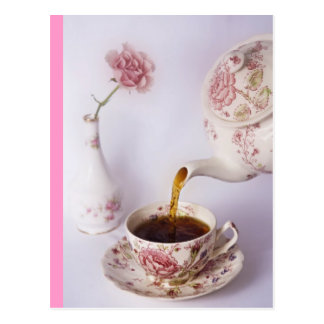 Carte Postale Temps de thé