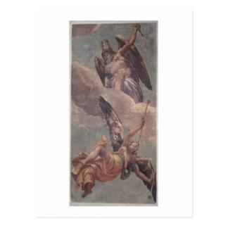 Carte Postale Temps et renommée, de la sacristie (fresque)