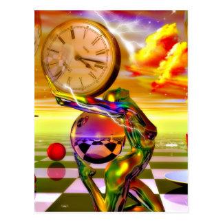 Carte Postale Temps surréaliste par art métaphysique de Lenny