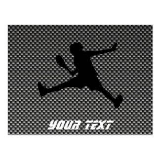 Carte Postale Tennis de regard de fibre de carbone